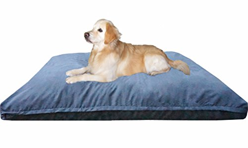 Dogbed4less Jumbo Extra Large Memory Foam Dog Bed Pillow with Orthopedic Comfort, Waterproof Liner and Microsuede Pet Bed Cover 55X47 Inches, Grey by Dogbed4less