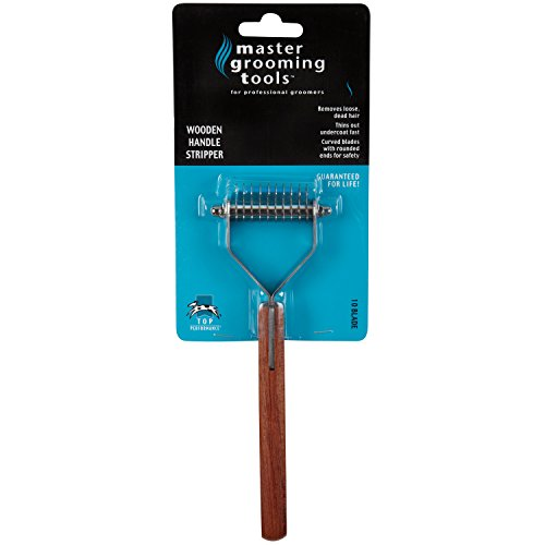 Master Grooming Tools Stripping Tools with Wooden Handles – Stripping Tools for Grooming Dogs – 10-Blade Style