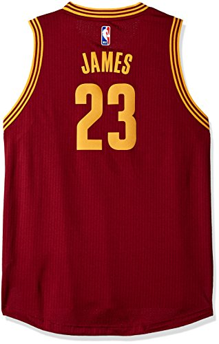- Outerstuff NBA Cleveland Cavaliers Lebron James Boys Player Swingman Road Jersey, X-Large (18), Burgundy