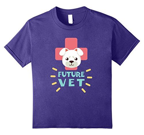 Kids Future Vet Shirt | Cute Veterinarian T-Shirt 12 (Future T-shirt Tee)