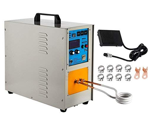 (BestEquip 15KW High Frequency Induction Heater 30-100KHz Melting Furnace Portable Electric Solid State Induction Heater with Timers for Gold and Silver Melting (15 KW High Frequency))