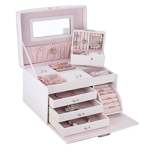 ブレスレットもきっちり入る◎ピンクでガーリーなジュエリーボックス