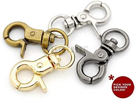 Pack of 4x Swivel Snap Hooks Bags Belts Lanyards Clips DIY Bag Clasp Buckle