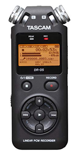 - Tascam DR-05 Stereo Portable Digital Audio Recorder