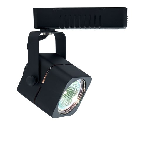 Jesco Lighting HLV10250BK Mini Deco 102 Series Low Voltage Track Light Fixture, 50 Watt, Black (Head Monorail Kit)