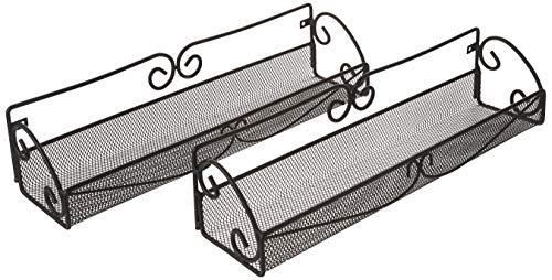 Sorbus Wall Mount Pair Single Tier Multi-Purpose Organizers, 2 Set Wall Mounted Storage ()