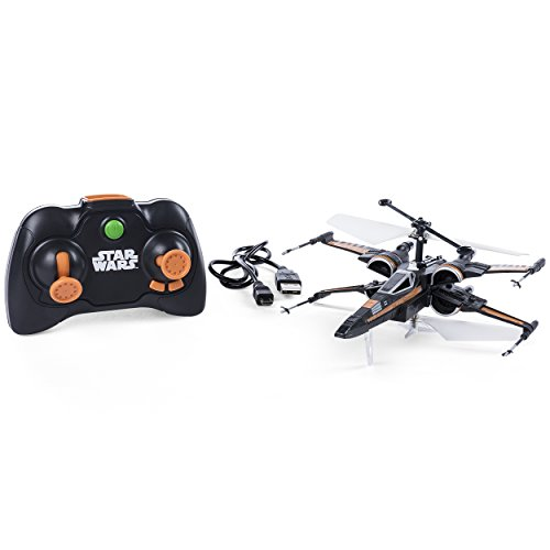 Air Hogs – Poe's Boosted X-Wing Fighter, Single Rotor Star Wars, Toy Jet -