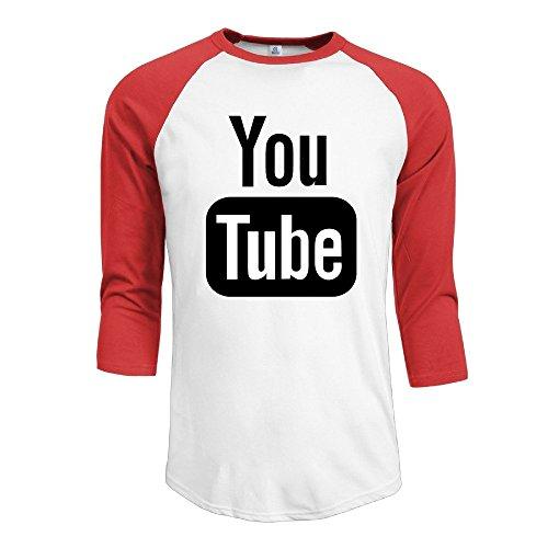 youtube-men-raglan-casual-t-shirt