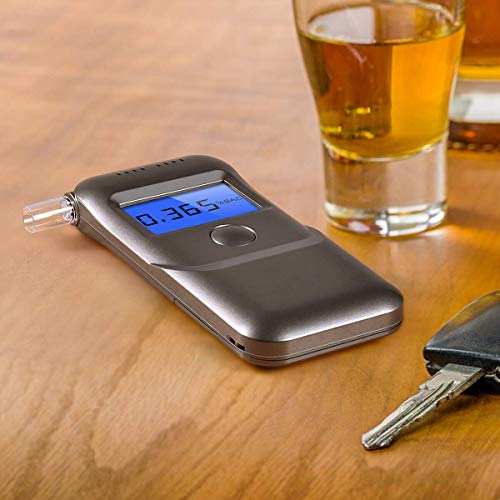 Breathalyzer, [2019 Upgraded] Portable Breath Alcohol Tester LED Screen with Mouthpieces for Home Use