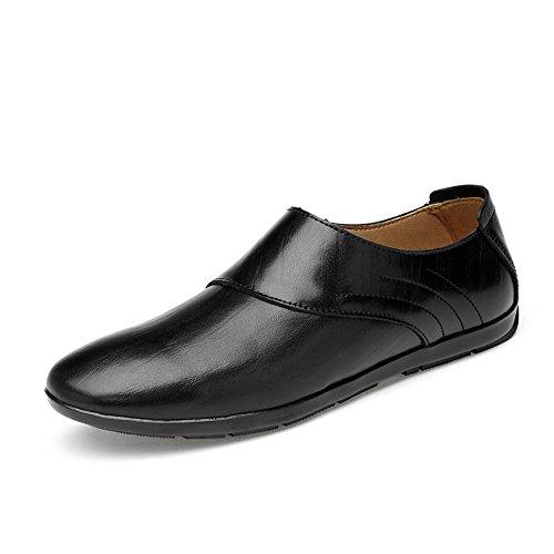 EU tamaño 38 Hombres de de Negro Mocasines de Color Barcos los Caballeros shoes Zapatos de Meimei Mocasines Hueco Opcional Superiores Cuero los imitación de Casuales los conducción de AwFpnq4