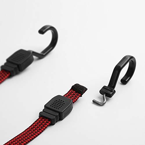 DeemoShop 2 Meter Natural Latex Compact Bungee Cords Ribbon Elastic Cargo Rope Straps Car Motor Bike Tie Band