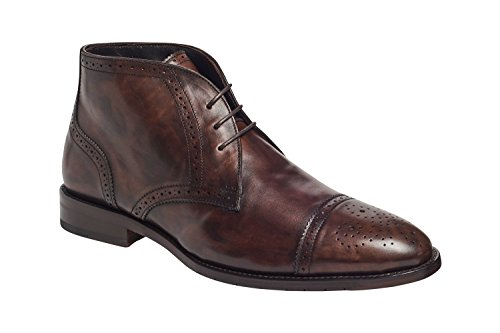 (Anthony Veer Chukka Boots Shoes in Bologna Construction (10D, Brown))