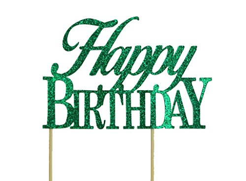 Topper Green - All About Details Green Happy-birthday Cake Topper
