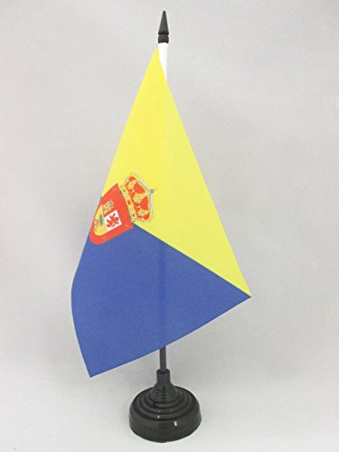 AZ FLAG Bandera de Mesa de Gran Canaria 21x14cm - BANDERINA de ...
