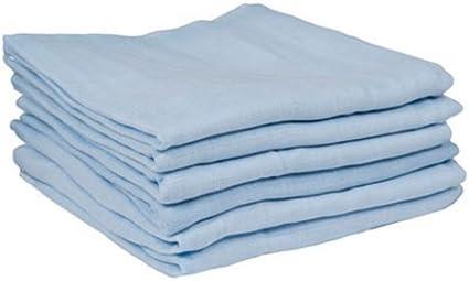 12-Piece 70 cm x 70 cm Blue Dudu N Girlie 100 Percent Cotton Baby Blankets Muslin Squares