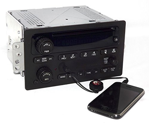 - 1 Factory Radio AM FM CD Player w Aux Input Compatible With 2005-09 Chevrolet GMC Truck 15850275