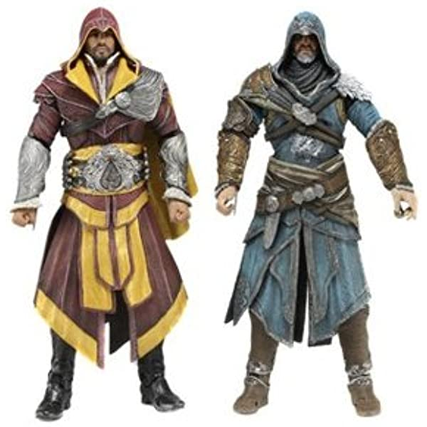 Amazon Com Neca 60817 7 Inch Assassins Creed Revelations Action Figure Pack Of 2 Toys Games