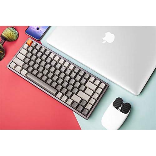 Keychron K4 Wireless Bluetooth//USB Wired Gaming Mechanical Keyboard Compact 100 Keys RGB LED Backlit Optical Red Switch N-Key Rollover Aluminum Frame for Mac Windows