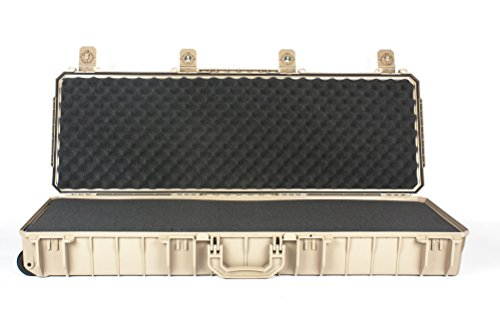 Seahorse SE1530 Desert Tan Gun case, with SOLID layered foam