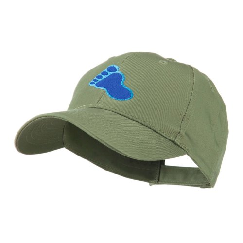 e4Hats.com Bigfoot Track Mascot Embroidery Cap - Olive OSFM