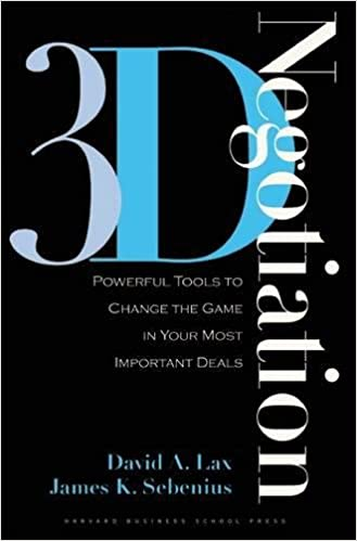 3 D Negotiation Powerful Tools To Change The Game In Your Most