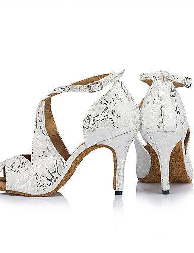 ShangYi Chaussures de danse(Noir / Blanc) -Personnalisables-Talon Aiguille-Flocage-Latine / Moderne , black-us8.5 / eu39 / uk6.5 / cn40 , black-us8.5 / eu39 / uk6.5 / cn40