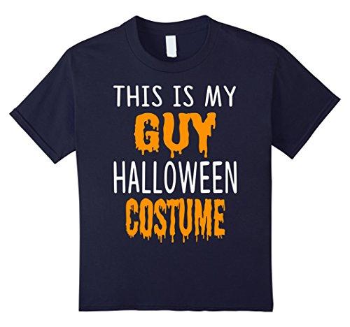 Badass Guy Costumes (Kids Halloween Gift This is my GUY Halloween costume T shirt 12 Navy)