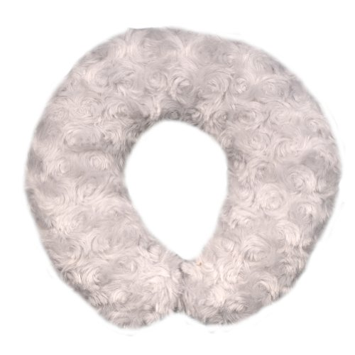 Blankets-and-Beyond-Rosette-Baby-Travel-Pillow-Grey
