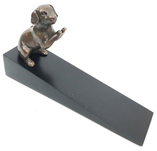 - Brass Made Begging Labrador Retriever Dog Door Stop Stopper Wedge Home Decor