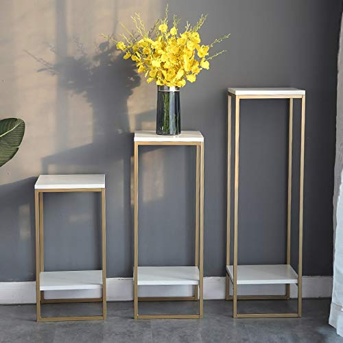 BENCONO Flower Stand Simple Home Living Room Interior Decorative Floor Stand (Color : White, Size : 30cmx30cmx100cm) by BENCONO