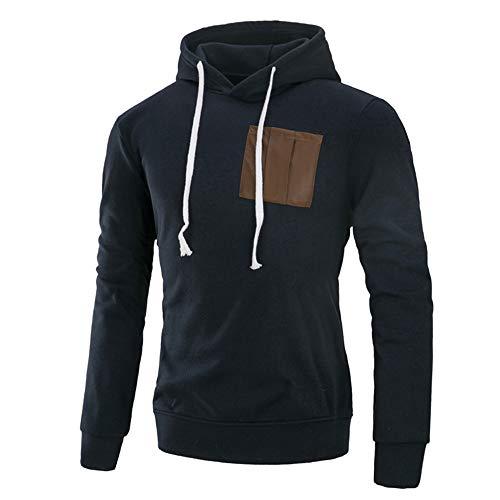ZYEE Clearance Sale! Men's Autumn Winter Sweatshirt Casual Splicing Long Sleeve Hoodie Top Blouse Sweatshirt