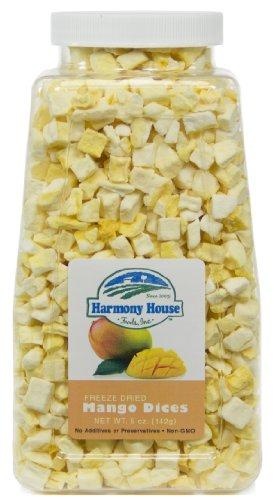 Harmony House Foods Freeze-Dried Mango, dices (4 oz, Quart Size Jar)