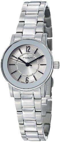 Stuhrling Original Women's 959L.12112 Classic Ascot Elite Swiss Quartz Silver Tone Bezel Stainless Steel Bracelet Watch