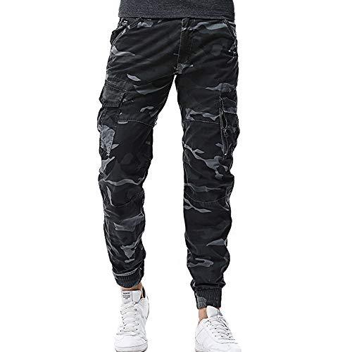 Men's Camouflage Pants,Sunyastor Casual Jogger Camo Sportwear Drawstring Trousers Baggy Harem Pants Pockets Slacks Sweatpant -
