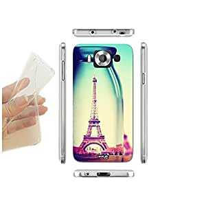 FUNDA CARCASA SLIM EIFFEL IN BOTTLE PARA MICROSOFT LUMIA 950 TPU