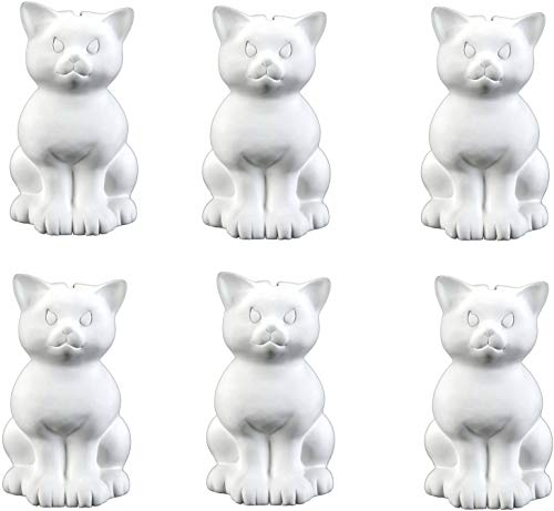 - Creative Hobbies Sitting Kitty Cat Bank, Case of 6, Unfinished Ceramic Bisque, with How to Paint Your Own Pottery Booklet