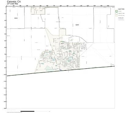 Amazon.com: ZIP Code Wall Map of Calexico, CA ZIP Code Map Not