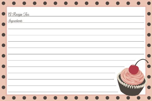 C.R. Gibson Recipe Cards Jessie Steele Cherry Cupcake, 4 by 6-Inch Home Supply Maintenance Store