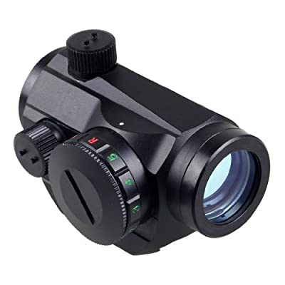 IRON JIA'S Tactical Red Dot Sight Scope 20mm Weaver Rail Mount with optional Dual High/Low Profile Rail Mounts and quick release