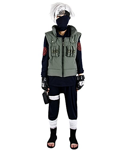 Naruto Kakashi Hatake Cosplay Costume (L)