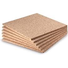 """WIDGETCO 3/8"""" x 12"""" Cork Squares (6 pack)"""
