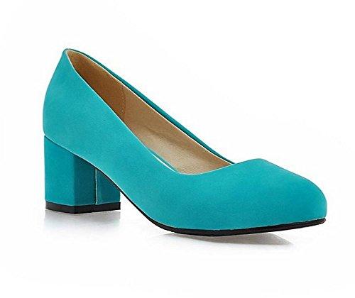 Punta Verano del Zapatos 36 la Simples Zapatos Redonda pie Ocasionales de Dedo 39 del Superficiales Altos y Boca del XIE del con Blue Trabajo la Zapatos Tacones GREEN nqZgt88I