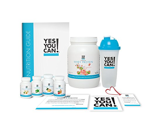 Yes You Can! Transform Kit: Food Lover 30 Servings, Once a Day, Contains: One Complete Whey Protein Kiwi-Berry, One Slim Down, One Appetite Support, One Collagen, One Colon Optimizer, One Shaker by Yes You Can