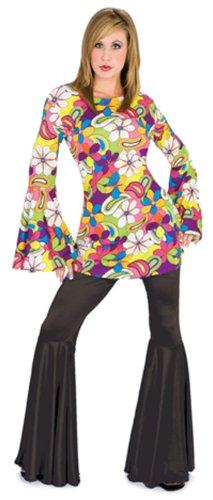 [Women's Black Hippie Pants] (Seventies Fashion Costumes)