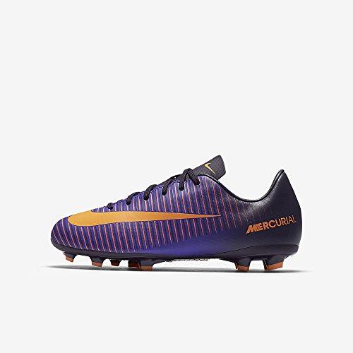 Nike JR Mercurial Vapor XI FG Junior Football Boots 831945 Soccer Cleats (5.5 Big Kid M, purple dynasty bright citrus 585)