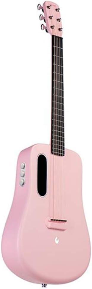 XBSD Guitarra Freeboost Traveler, Guitarra Natural de 6 Cuerdas, Fibra de Carbono Avanzada, Guitarra Superior con Efectos sin enchufar un Amplificador Pesado.