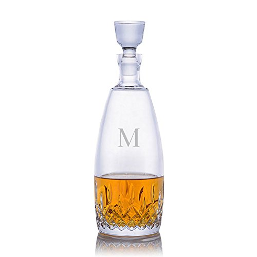 Personalized Waterford Lismore Essence Cut Crystal Liquor and Whiskey Decanter With Stopper Engraved & Monogrammed by Crystalize