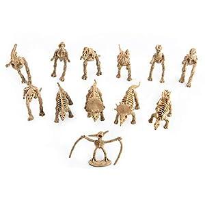 SODIAL 12Pcs Dinosaur Toys Skeleton Simulation Model Set Action Figure Jurassic Educational Toys for Boys Children