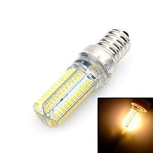 TYs Marsing E14 10W LED Bulb Warm /Cool White Light 3500K/6500K 800lm 96-SMD 3014 Corn lamp - White + Yellow (AC 220~240V) , cool white