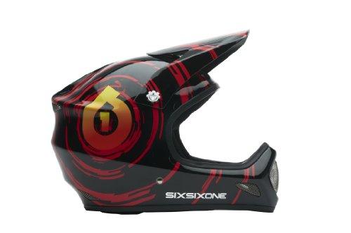 Six Six One Evolution Helmet Black/Red, S (Carbon Evolution Helmet)
